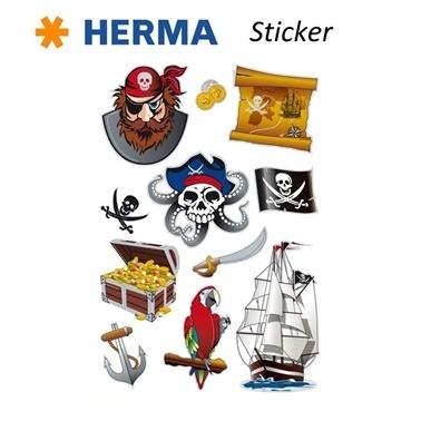 Herma Çocuk Etiketleri Korsanlar Renkli